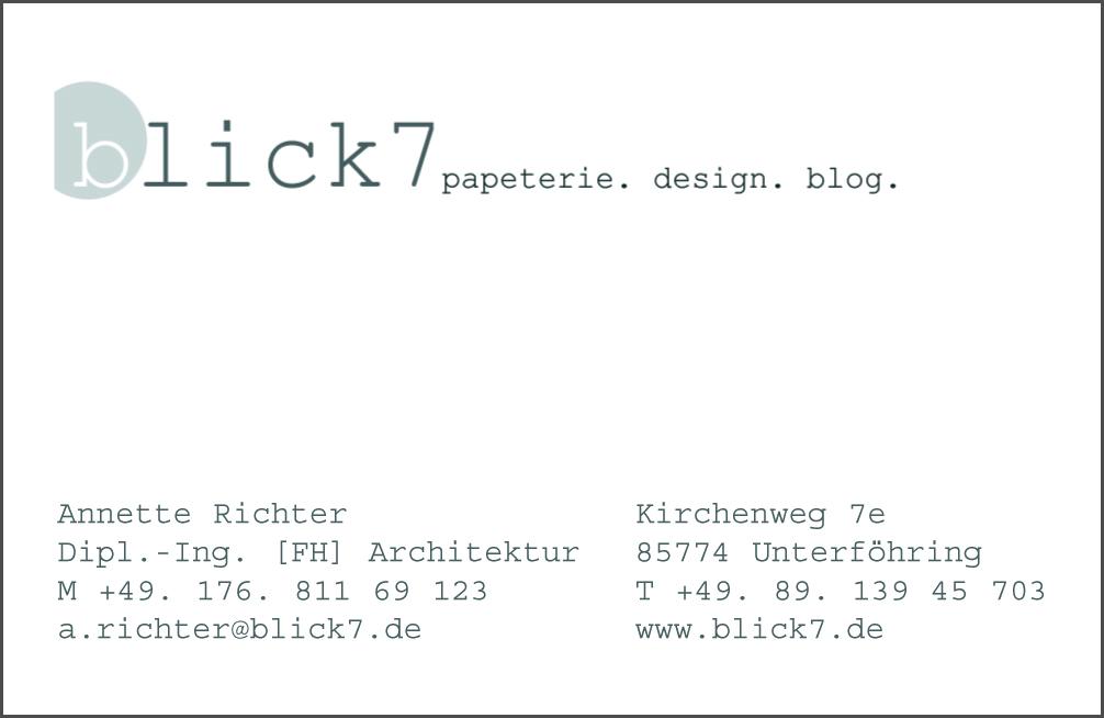 Eine Neue Version Visitenkarte Blick7