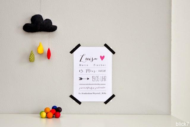 poster f r 39 s babyzimmer mini montag blick7. Black Bedroom Furniture Sets. Home Design Ideas