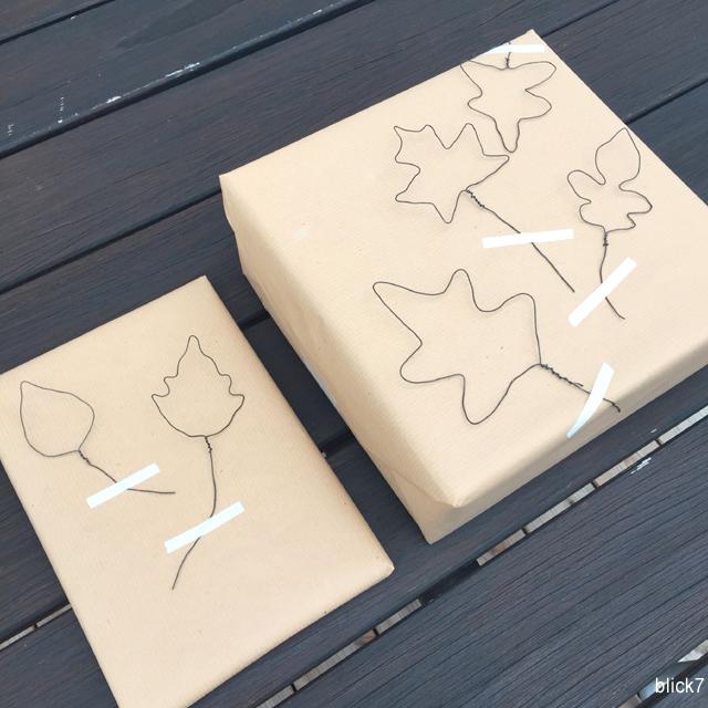 Laub aus Draht mit Papckpapier DIY