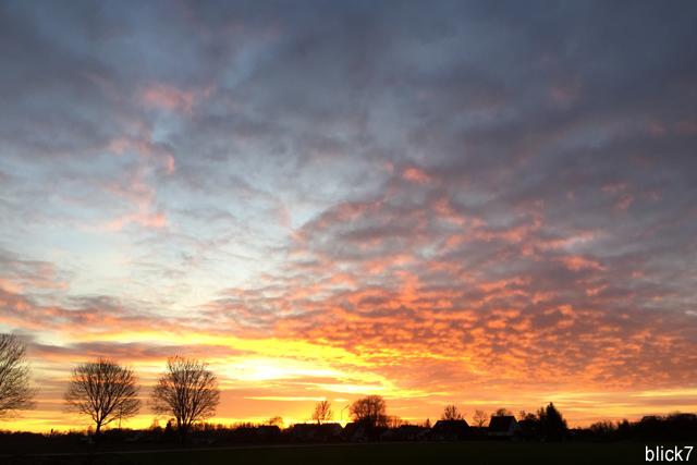 Sonnenuntergang am 12. Dezember 2015