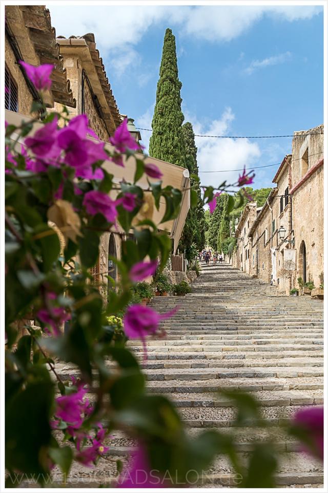 Treppen in Pollenca, Mallorca