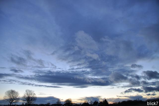 Wolkenstimmung im Januar