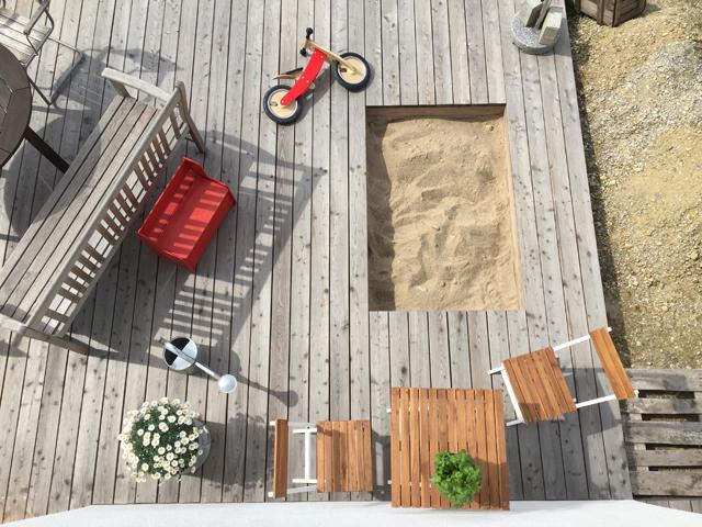 Sommerterrasse von oben