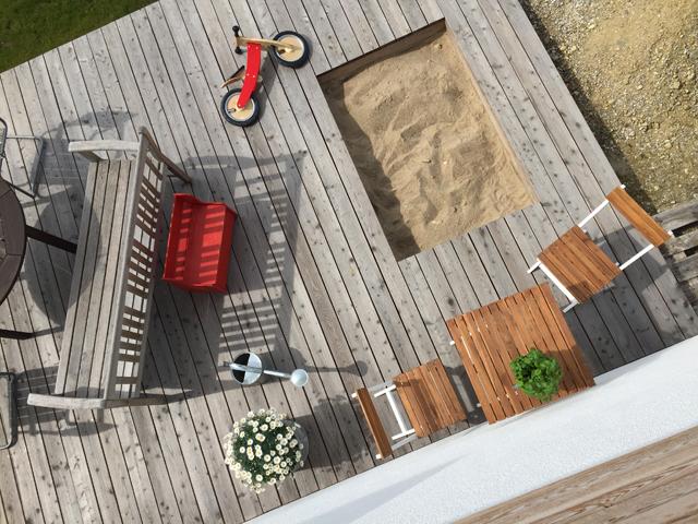 Terrasse aus Lärche