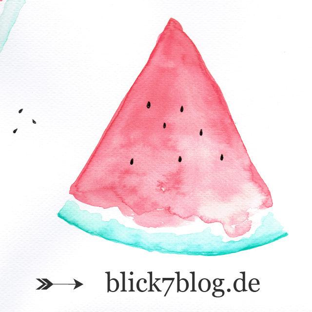 Wassermelone Aquarell