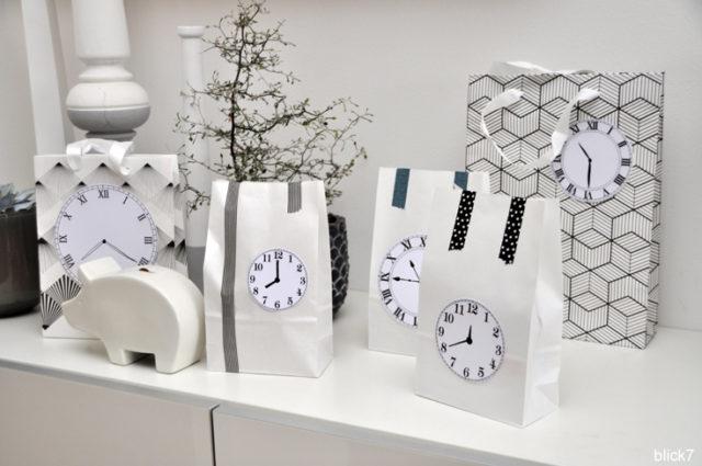 Countdown-Tüten für Silvester