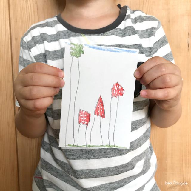 Glückspilz-Karte zum Kindergartenabschied