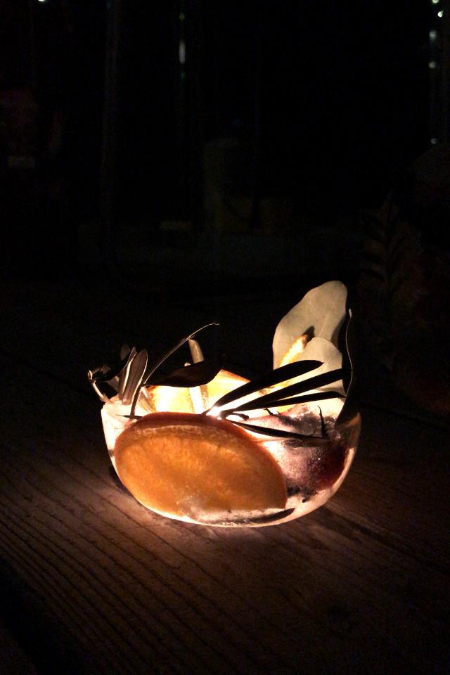 Eislaterne mit Orange und Eukalyptus DIY