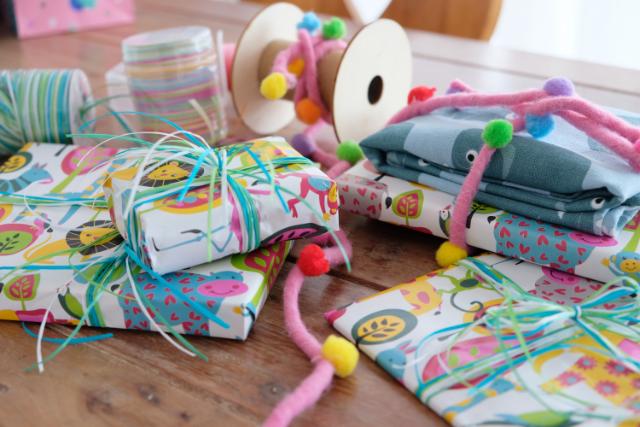 Geschenkverpackung Kindergeburtstag