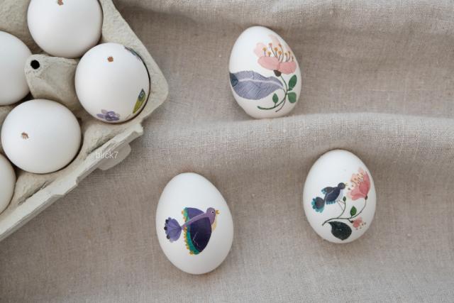 super schnelle und einfache Ostereier mit Tattoos