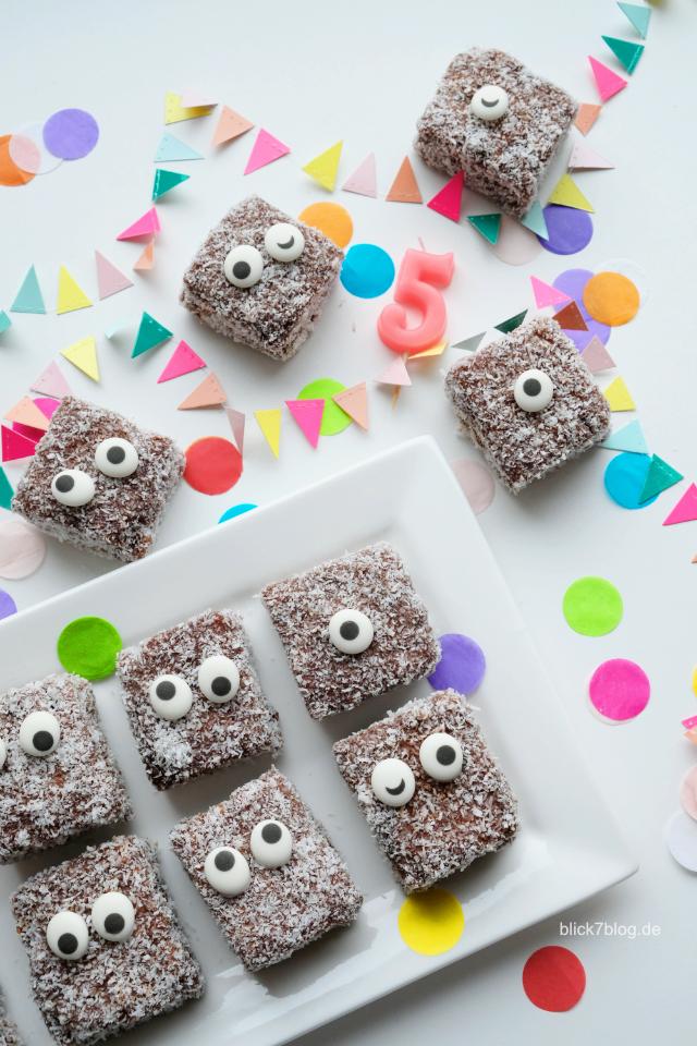 Monster Geburtstagskuchen mit Zuckeraugen