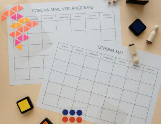 Corona Ausmalkalender