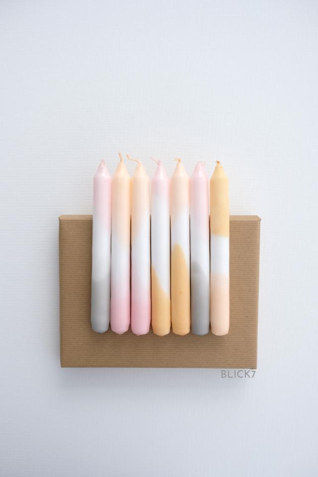 DIY: dip dye Kerzen