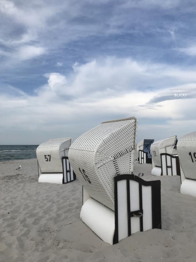 Strandkörbe in Prerow an der Ostsee