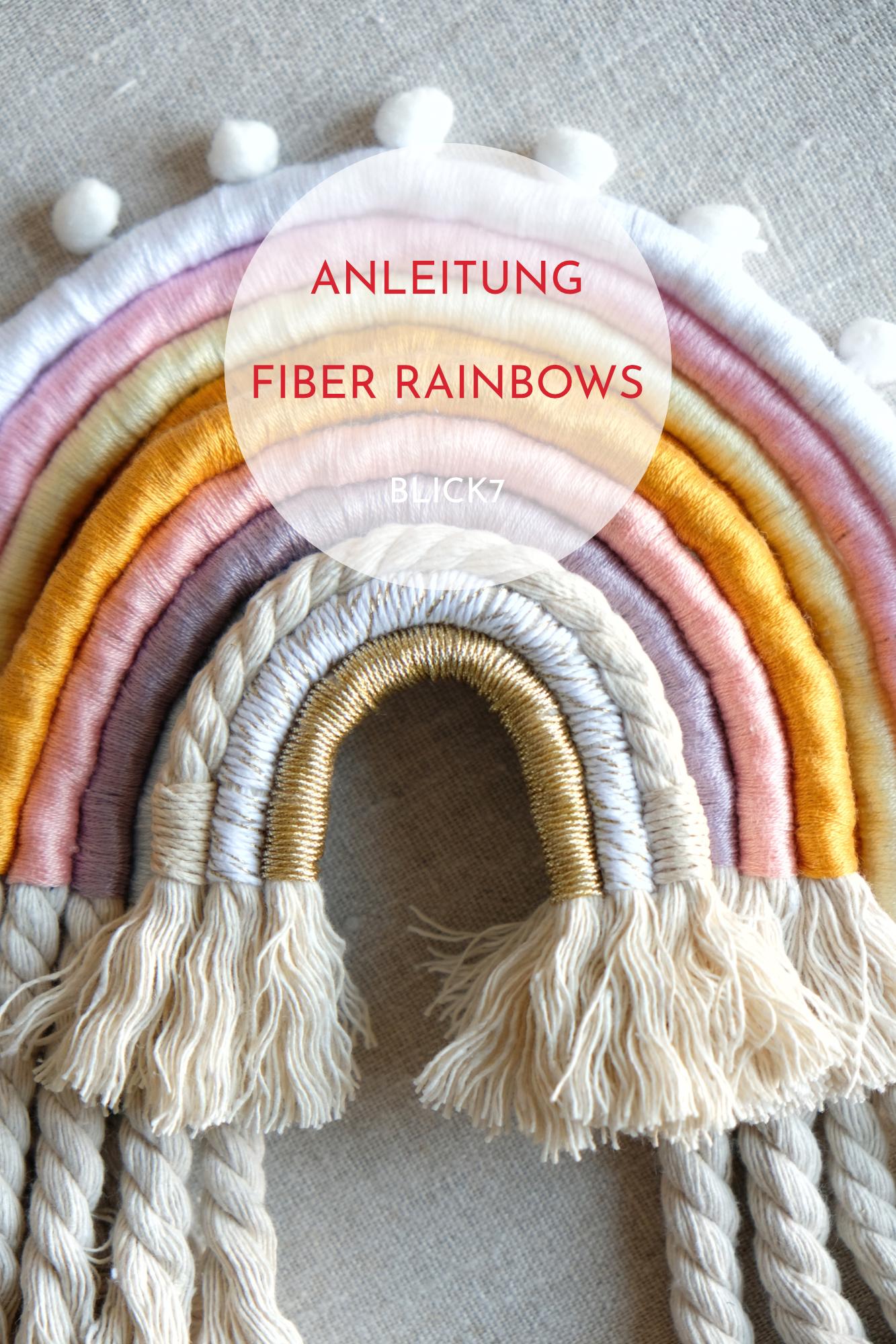 DIY Anleitung fiber rainbows - Makramee Regenbogen blick7