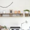 DIY Palettenregal im Arbeitszimmer